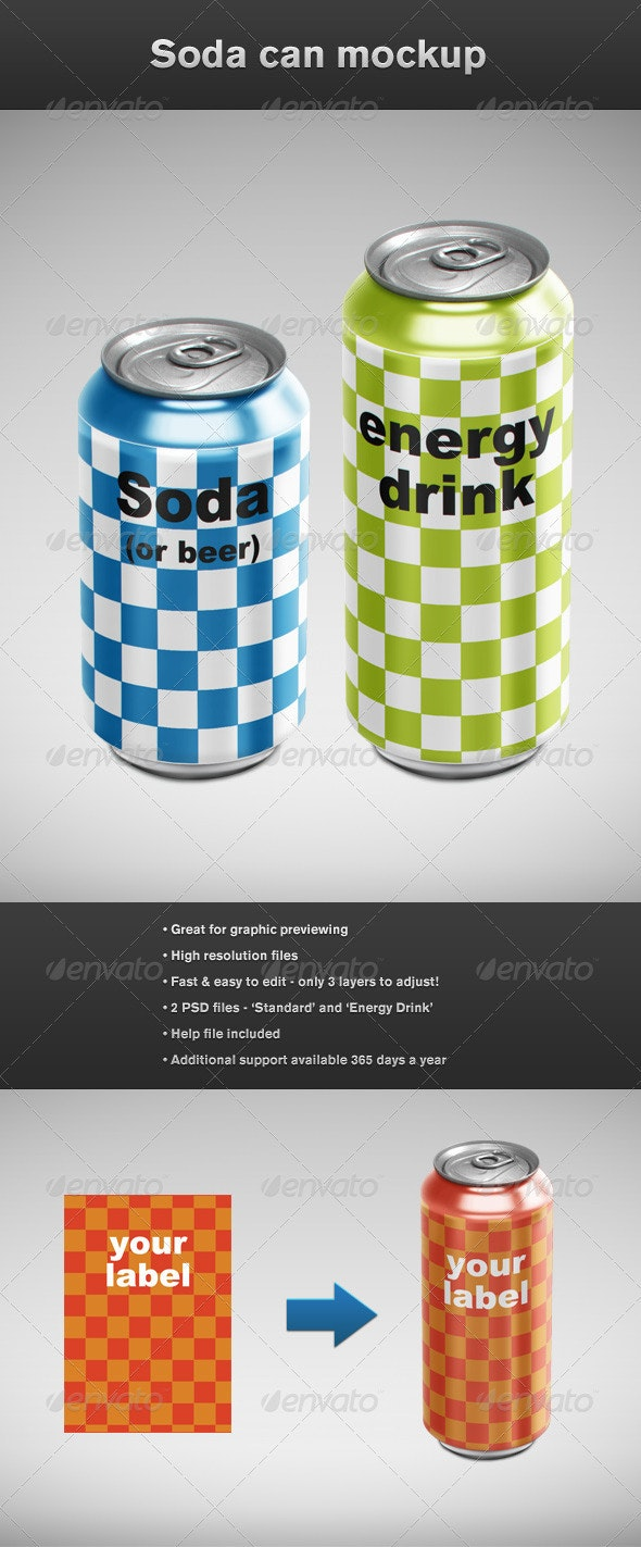 Can Mockup - Food and Drink Packaging