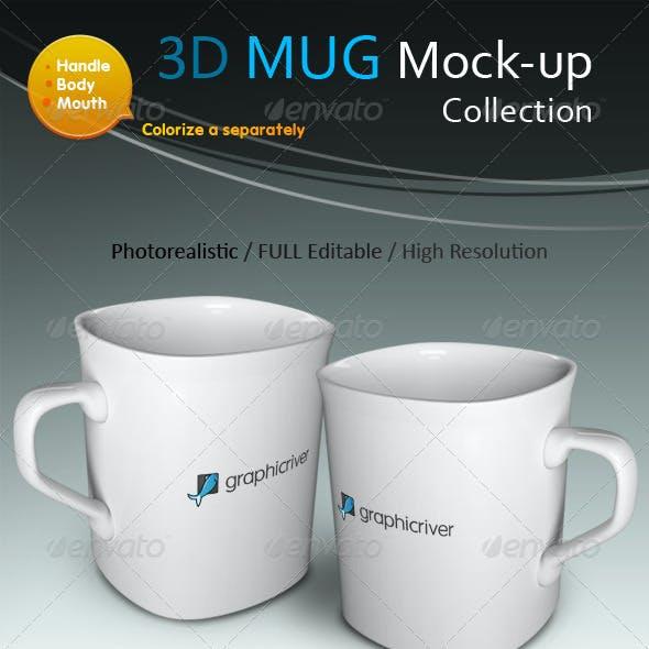 3D Photorealistic Mug Mock-ups Collection