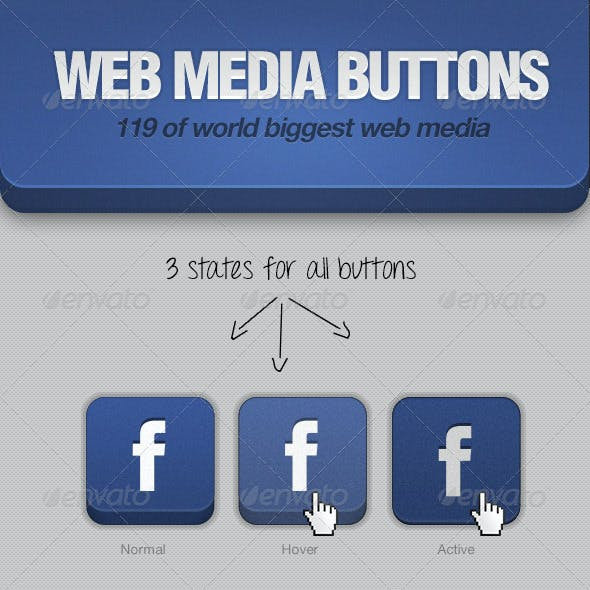 Web Media Buttons