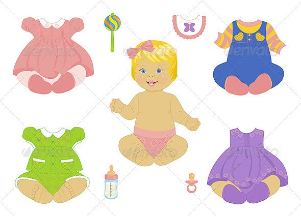 Blonde baby-girl - People Characters