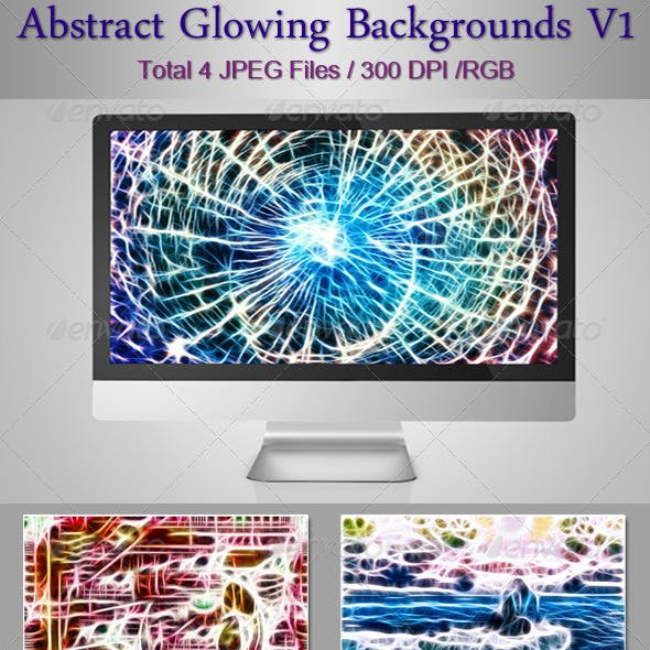 Abstract Glowing Backgrounds V1