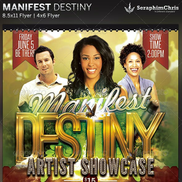 Manifest Destiny: Church Concert Flyer Template
