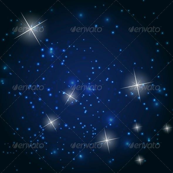 Star Sky Vector Background Illustration