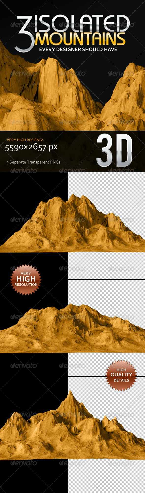 3 Isolated Mountains
