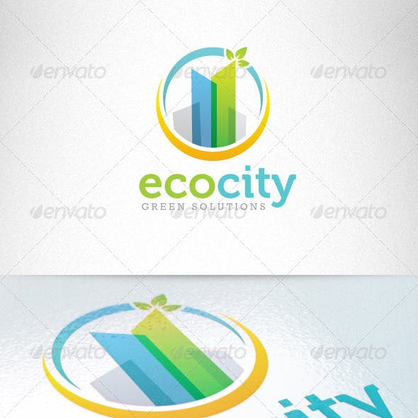 Eco Green City Sustainable Development Logo