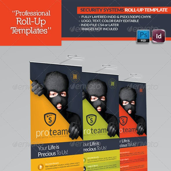 Security Systems Roll-Up Template