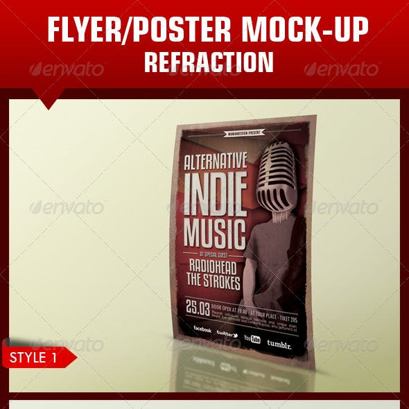 Flyer/Poster Mock-up Refraction