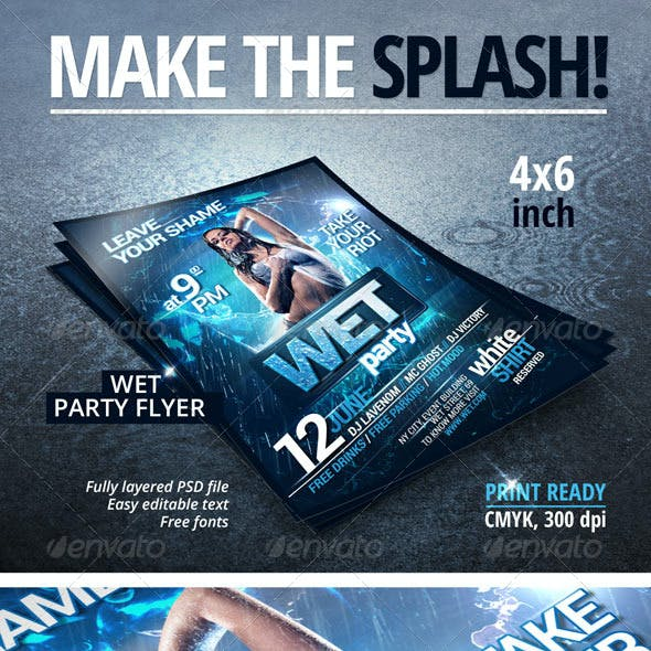 Wet Party Flyer