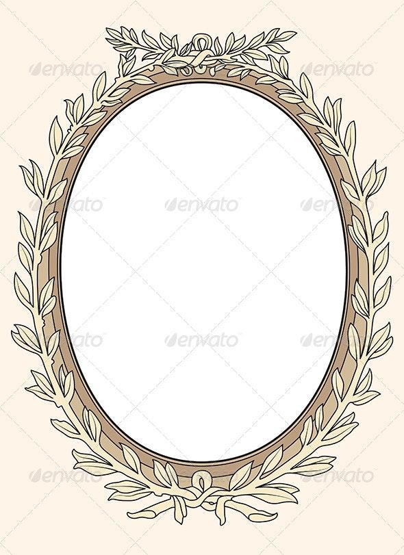 Vintage Photo Frame Ornamental Vector - Borders Decorative
