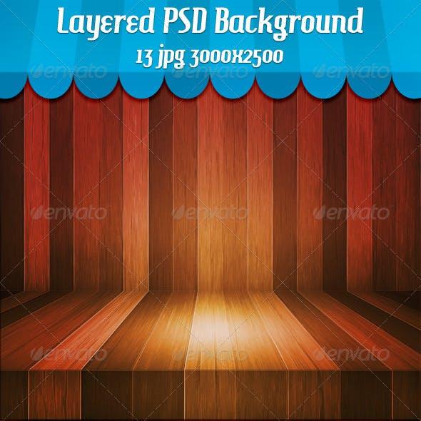 Wooden Stage Background