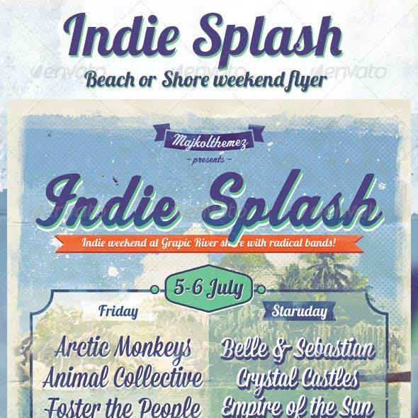 Indie Splash Flyer
