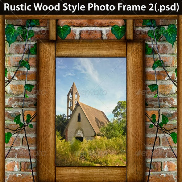 Rustic Wood Style Photo Template 2