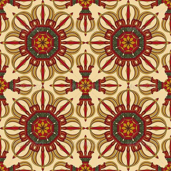 Seamless Vajra Tibetan Pattern