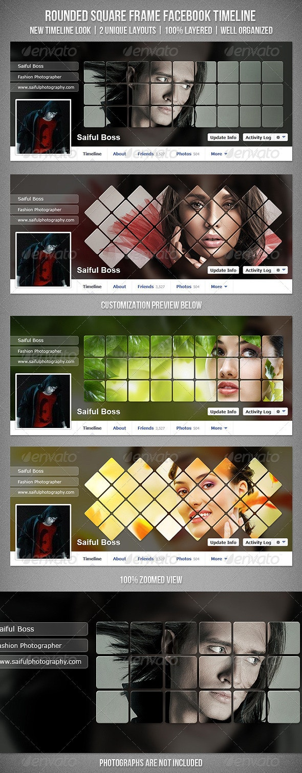 Rounded Square Frame Facebook Timeline Cover - Facebook Timeline Covers Social Media