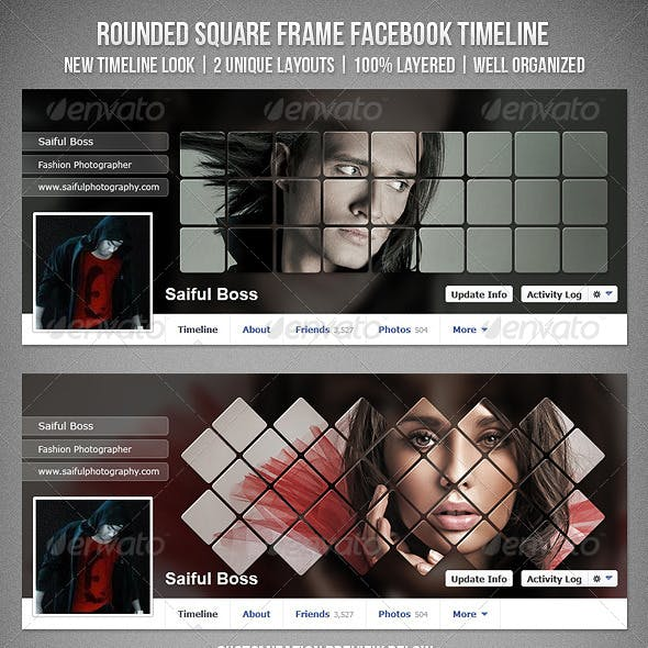 Rounded Square Frame Facebook Timeline Cover