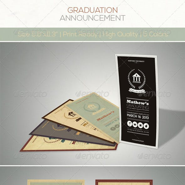 Retro Graduation Announcement
