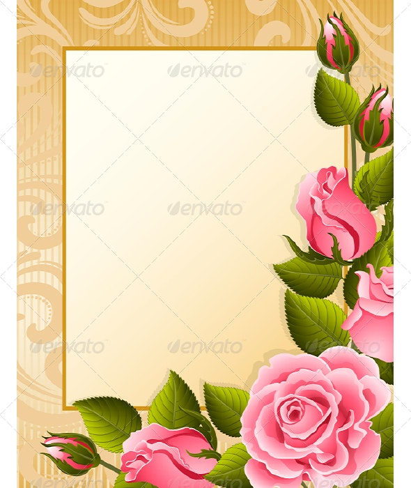 Roses background - Flowers & Plants Nature