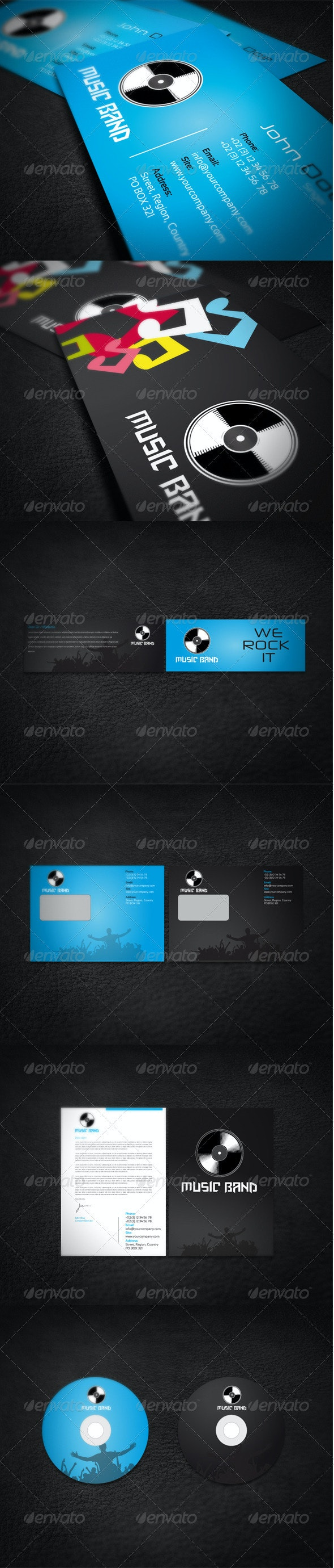 Music Band Corporate Identity - Stationery Print Templates