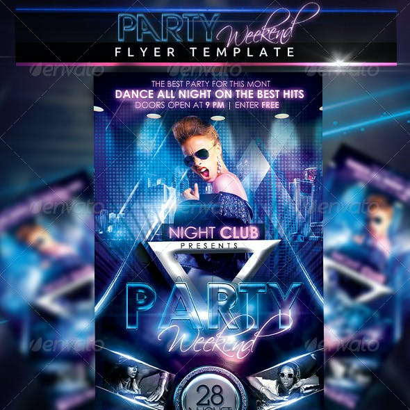 Party Weekend Flyer Template