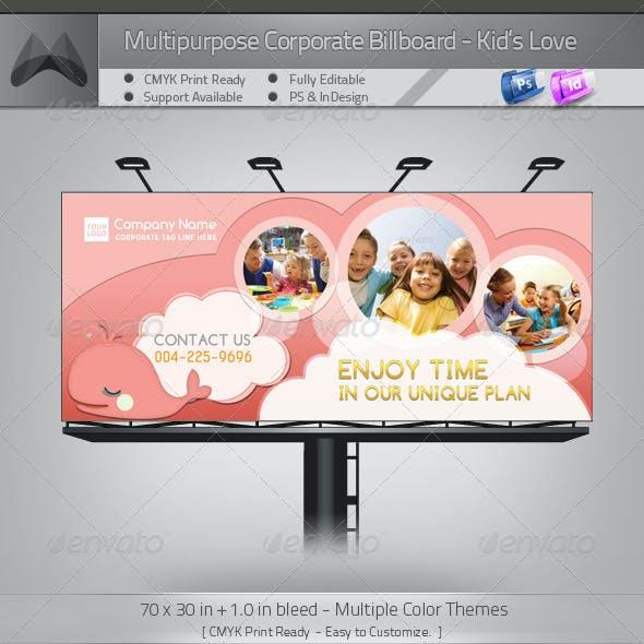 Corporate Billboard - Kid's Love