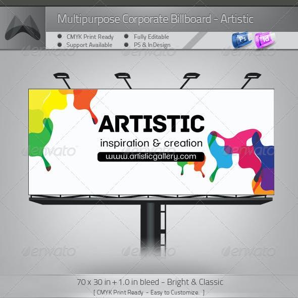 Multipurpose Corporate Billboard - Artistic