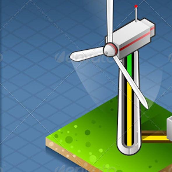 Isometric Wind Turbine that Produces Energy