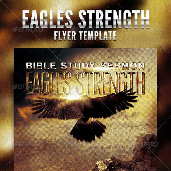 Eagles Strength Flyer Template