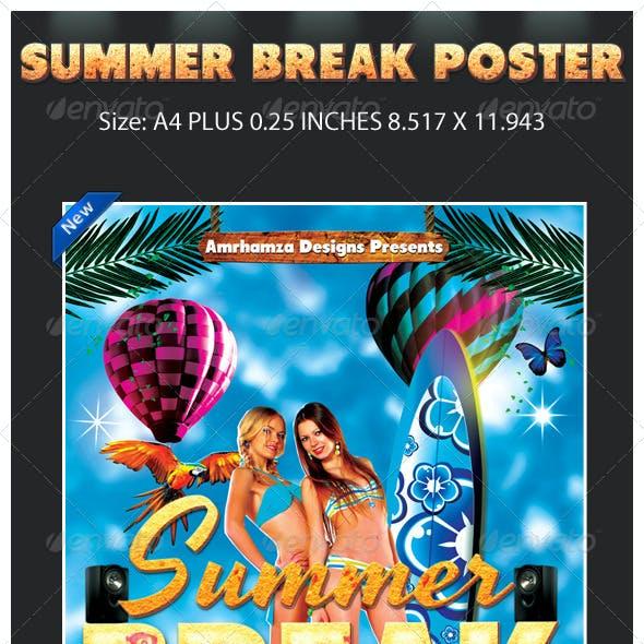 Summer Spring Surf Poster