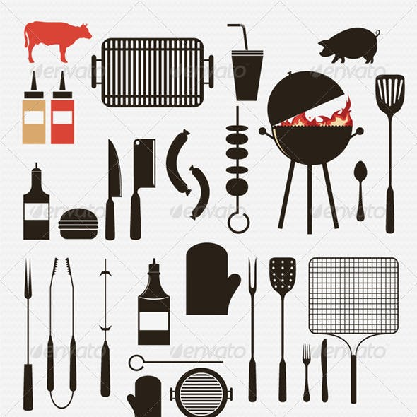 Barbecue and Grill Icons