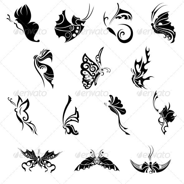 Decorative Butterflies Vector Pack