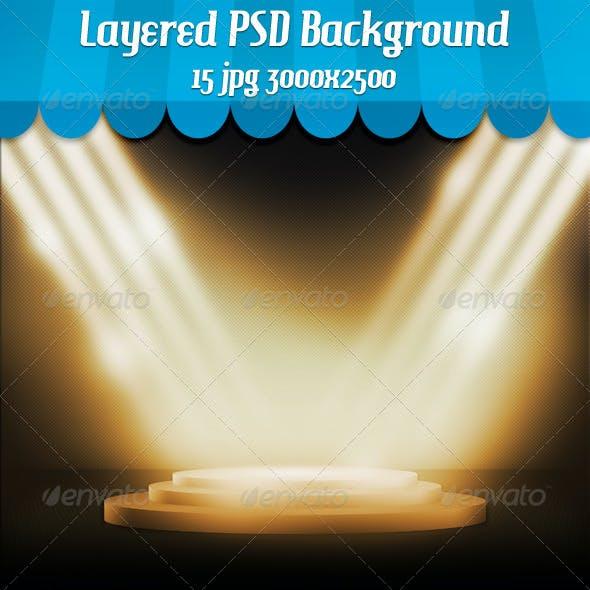 Podium Spotlight Background