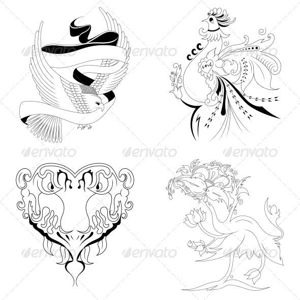 Artistic Elements Vector Set
