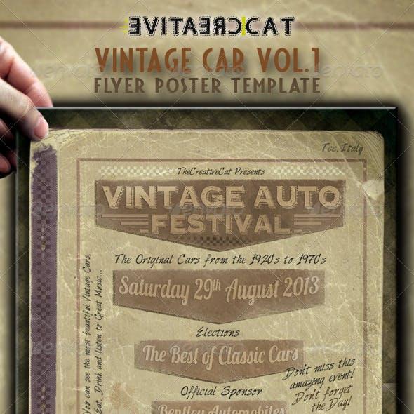 Vintage Car Flyer/Poster Vol.1