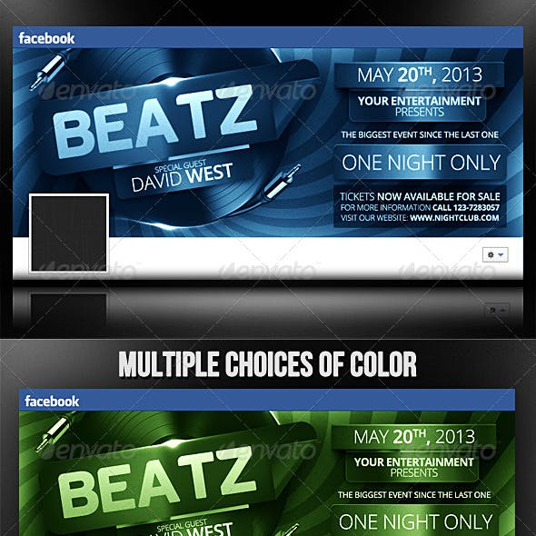 Beatz - Facebook Timeline Template