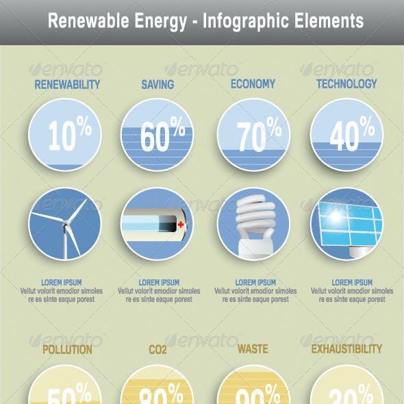 Renewable Energy Infographics Elements