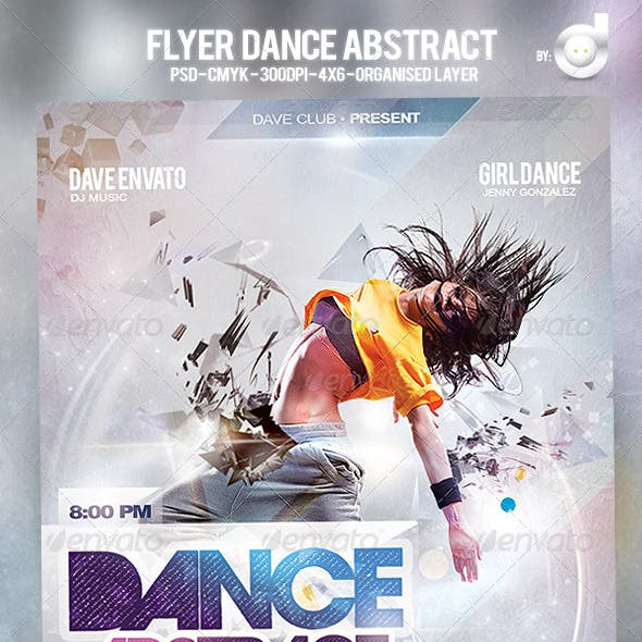 Flyer Dance Abstract