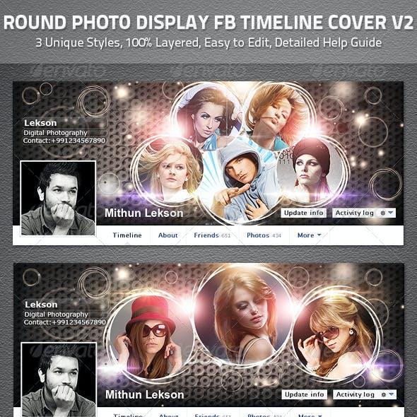 Round Photo Display Facebook Timeline Cover V2