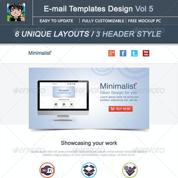 Minimalist : E-mail Template Design Vol 5