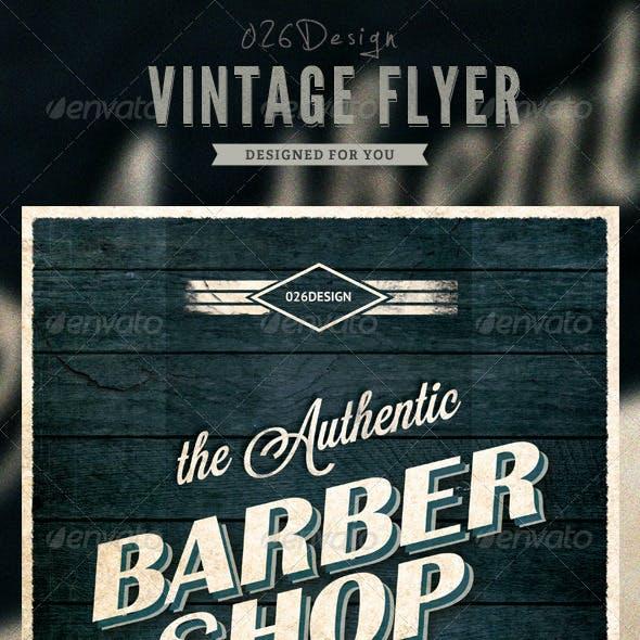 Vintage Typography Flyer / Poster