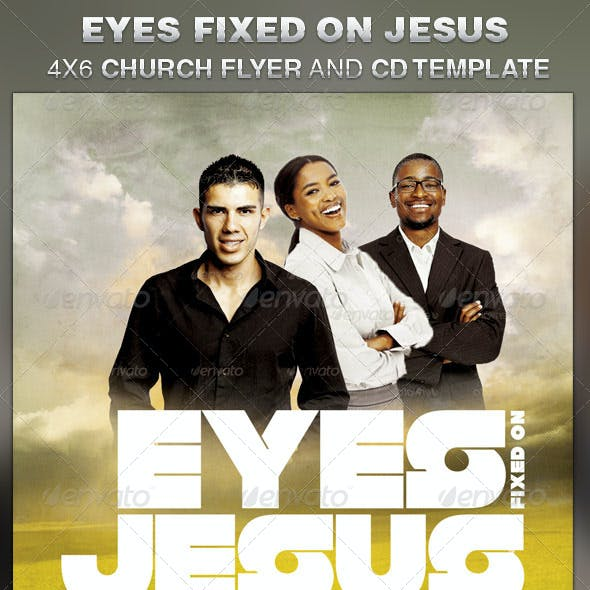 Eyes Fixed on Jesus Church Flyer and CD Template