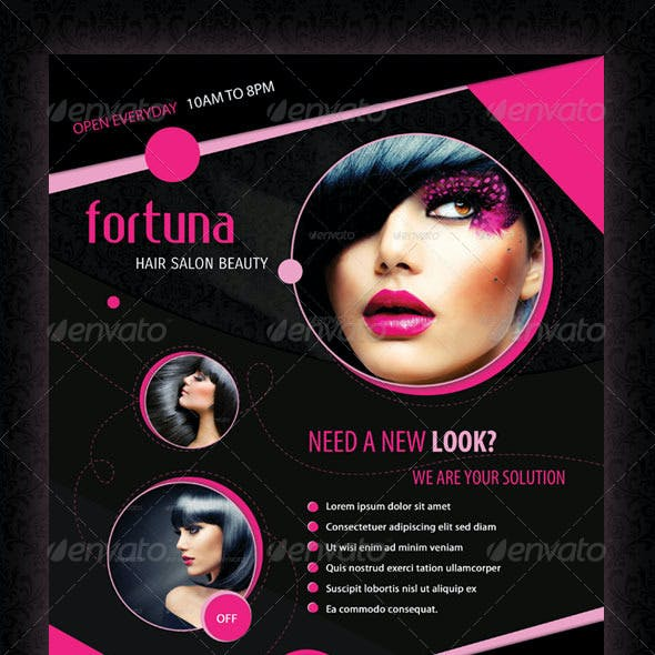 Fortuna Hair Salon Flyer