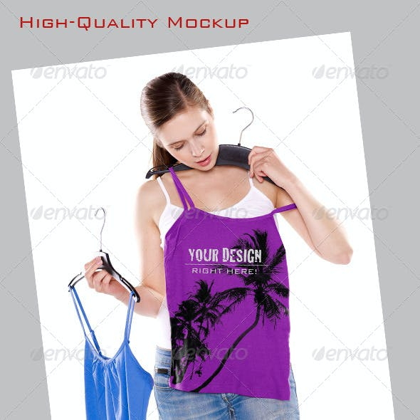 Mock-Up, Girl Trying on Top
