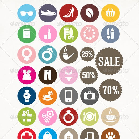 Icons for Shopping Mall