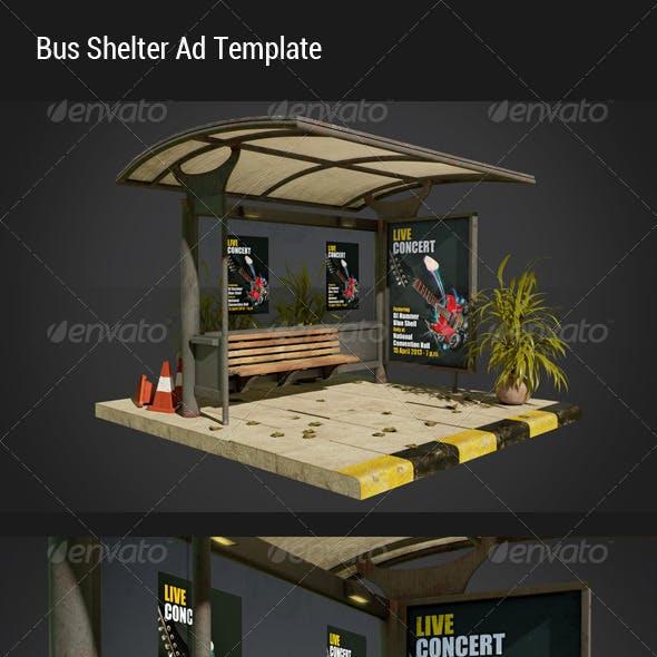 Bus Shelter Ad Mock-Ups