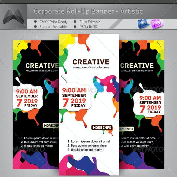 Corporate Roll-up Banner - Artistic Painting