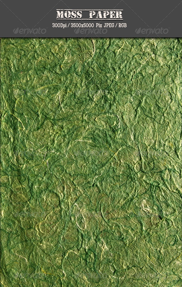 Moss Paper 1 - Paper Textures