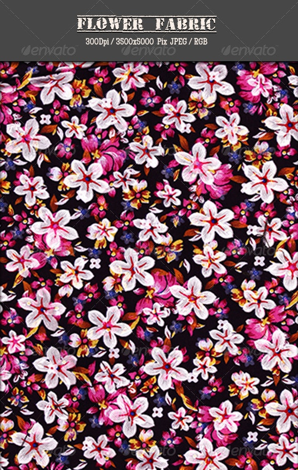 Flower Fabric 4 - Fabric Textures
