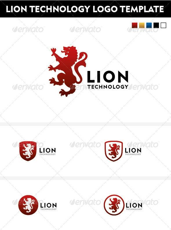 Lion Technology logo template - Animals Logo Templates