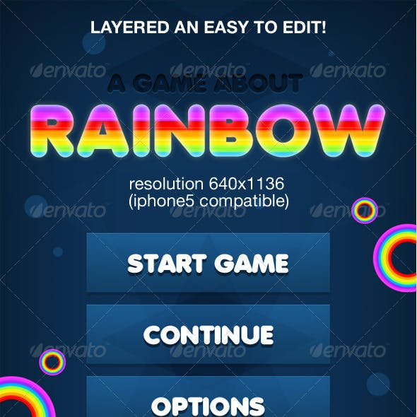 Rainbow Game Ui interface