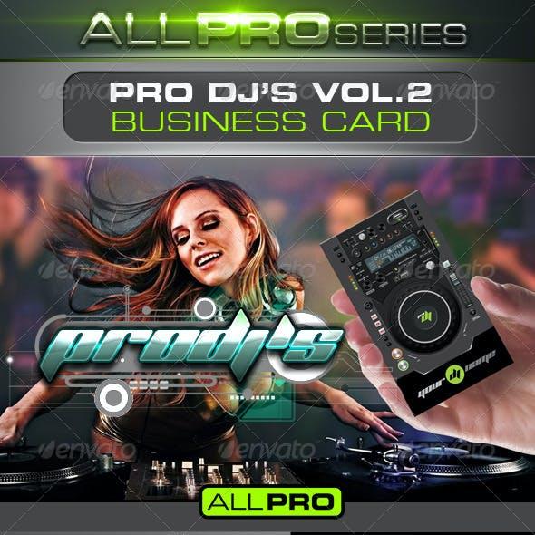 Pro DJ's Business Card Vol.2